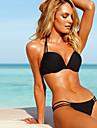 femei fara bretele push-up sutien căptușit set de costume de baie baie costume de baie bikini