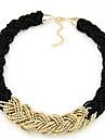Pentru femei Coliere Choker Lănțișoare Circle Shape Bijuterii Reșină Nailon Aliaj Festival/Sărbătoare European Bijuterii Statement costum