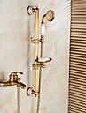 Robinete de Duș Robinete de Vană - Art Deco / Retro Bronz Antichizat Piesă Centrală Valvă Ceramică