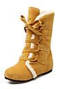 Femme Chaussures Similicuir Automne Hiver Bottes a la Mode Bottes de neige Bottes Hauteur de semelle compensee 15.24-20.32cm Bottine /