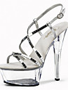 Pentru femei Pantofi Luciu Primăvară / Vară Pantofi Usori / Pantofi Club Tocuri / Sandale Toc Stilat / Platformă / Toc de Cristal Paiete