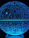 se trezește! multi-colorate stea moarte lampă de masă 3d stea moarte lumina bulbing pentru Star Wars
