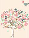 Djur Botanisk Tecknat Romantik Stilleben Mode Blommig Vintage Fritid Väggklistermärken Väggstickers FlygplanDekrativa Väggstickers