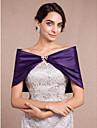 Fără manșon Satin Nuntă Wraps de nunta With Piatră Semiprețioasă Arc Boleros