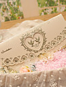 Împăturit în 3 Invitatii de nunta Invitații Stil Clasic Stil Inimă Temă Basme Hârtie perlă