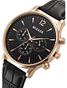Bărbați Ceas de Mână Ceas Elegant  Ceas La Modă Quartz / Ceas Casual Piele Bandă Cool Negru