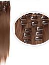 Syntetiskt hår HÅRFÖRLÄNGNING Rak Klassisk Klämma in Dagligen Hög kvalitet