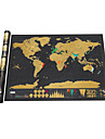 the World for Travelers Skrapkartor Karta Kul Papper Familj Klassisk Barn Present