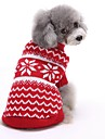 Kat Hond Truien Kerstmis Hondenkleding Gestreept Rood Blauw Katoen Kostuum Voor Lente & Herfst Winter Heren Dames Nieuwjaar