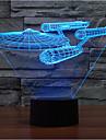 navă de război rămâne dimmer 3d a condus lumina de noapte 7colorful decorare lampă atmosferă de iluminat noutate lumina de