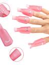 10pcs ta bort nagellack klippet kan användas upprepade gånger suga av clipslocket