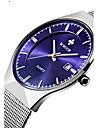 WWOOR Bărbați Pentru cupluri Ceas Elegant  Ceas La Modă Ceas de Mână Quartz Calendar Rezistent la Apă Oțel inoxidabil Bandă Lux Casual