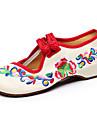 Pantofi pentru femei-Pânză-Toc Plat-Confortabili / Mary Jane-Pantofi Flați-Casual-Negru / Albastru / Roșu / Alb