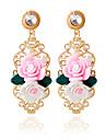Cercei 1pair / roz stud pentru stilul feminin elegant clasic clasic