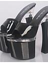Per donna Vernice Primavera / Estate Club Shoes Tacchi Quadrato / Plateau Bianco / Nero / Rosso / Matrimonio