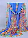 Pentru femei Imprimeu Nuntă, Șifon - Dreptunghi / Alb / Albastru / Oranj / Violet / Roz