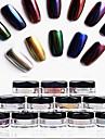 12pcs Glitter & Poudre / Nail Glitter / Poudre Glitters / Classique / Chic & Moderne Quotidien Nail Art Design