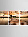 Modern/Contemporan Altele Ceas de perete,Dreptunghiular Canava35 x 50cm(14inchx20inch)x3pcs/ 40 x 60cm(16inchx24inch)x3pcs/ 50 x