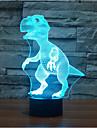 dinozaur atingere dimming 3d condus noapte lumina 7colorful atmosfera decorare lampă noutate iluminat lumina