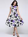 Pentru femei Șic & Modern Linie A Rochie - Flori Stil Vintage, Floral Midi