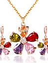 Pentru femei Set bijuterii - Include Seturi de bijuterii de mireasă Curcubeu Pentru Nuntă Petrecere