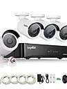 sannce® 4ch hd 1.3 mp 960p nvr poe de securitate ip camera kit kit sistem de acasă în aer liber