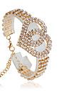 Dam Tennis Armband - Mode Cirkel Form Silver Brun Armband Till Bröllop