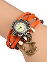 Pentru femei Ceas La Modă Ceas de Mână Ceas Brățară Quartz / Punk Piele Bandă Vintage Boem Charm Brățară rigidă Casual Negru Alb Albastru