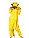 Kigurumi-pyjamas pika pika Onesie-pyjamas Kostym Polär Ull Gul Cosplay För Pyjamas med djur Tecknad serie halloween Festival / högtid