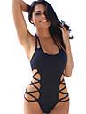 Pentru femei Halter O Piesă Costume de Baie Solid Negru