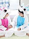 Kigurumi-pyjamas Unicorn Onesie-pyjamas Kostym Flanell Blå / Rosa Cosplay För Barn Pyjamas med djur Tecknad serie halloween Festival /