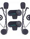 freedconn 1 pereche motocicletă bluetooth căști, motocicletă casca interfon interfon mp3 player / walkie-talkie