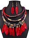 Pentru femei Zirconiu Argilă Set bijuterii Include Σκουλαρίκια Coliere - Sexy Festival / Sărbătoare Modă European Zirconiu Argilă