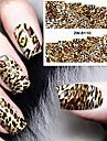 1pcs Vattenövergångsklistermärke Nail Stamping Mall Dagligen Mode Hög kvalitet