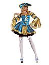 Pirat Costume Cosplay / Costume petrecere Pentru femei Halloween Festival / Sărbătoare Costume de Halloween Albastru Peteci