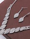 Pentru femei Cristal Set bijuterii - Modă Include Colier / cercei Argintiu Pentru Nuntă / Petrecere