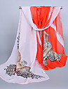 Pentru femei Imprimeu Vintage Draguț Casual, Șifon - Dreptunghi