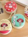 headset / Börs vackra flicka mini rundjärn box (slumpmässiga färger)