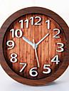 Cadouri fericit de înaltă calitate din lemn de culoare mitation retro stil european ceas din lemn