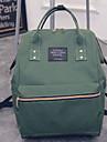 Dam Väskor Kanvas ryggsäck för Casual Alla årstider Orange Grå Purpur Grön Blå
