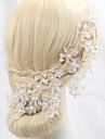 Femei Cristal Aliaj Imitație de Perle Diadema-Nuntă Ocazie specială Exterior Flori