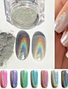 Powder glitters / Klasik Nail Art Design Dnevno