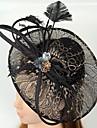 Femei Dantelă Pană Zirconiu Cubic Net Diadema-Nuntă Ocazie specială Informal Pălărioare Pălării/Căciuli 1 Bucată