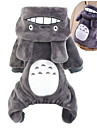 Chat Chien Costume Pulls a capuche Combinaison-pantalon Vetements pour Chien Mignon Cosplay Dessin-Anime Gris Rouge Rose Marron Costume