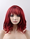 Sintetičke perike Prirodne kovrče Stil Capless Perika Crvena Crvena Sintentička kosa Žene Crvena Perika Kratko Prirodna perika
