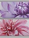 Hang-pictate pictură în ulei Pictat manual - Floral / Botanic Modern Realism pânză
