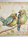 Peint a la main Pop Art Carre, Classique Moderne Toile Peinture a l\'huile Hang-peint Decoration d\'interieur Un Panneau
