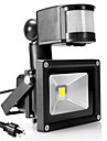 LED-strålkastare Sensor Bärbar Enkel att installera Vattentät Utomhusbelysning Garage Varmvit Kallvit AC 85-265V