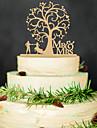 Sütemény tartozékok Fa Esküvői dekoráció Esküvő / Parti / Menyegző Klasszikus téma Tavasz / Nyár / Ősz