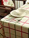 100% Coton Rectangulaire Nappes de table Avec motifs / Vichy Resistant a la chaleur Decorations de table